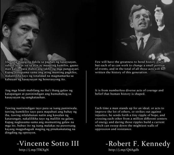 A meme showing one of the speeches made by Senator Sotto