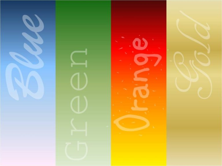 Orange Gold Green Blue Your True Colors Yes Thats You